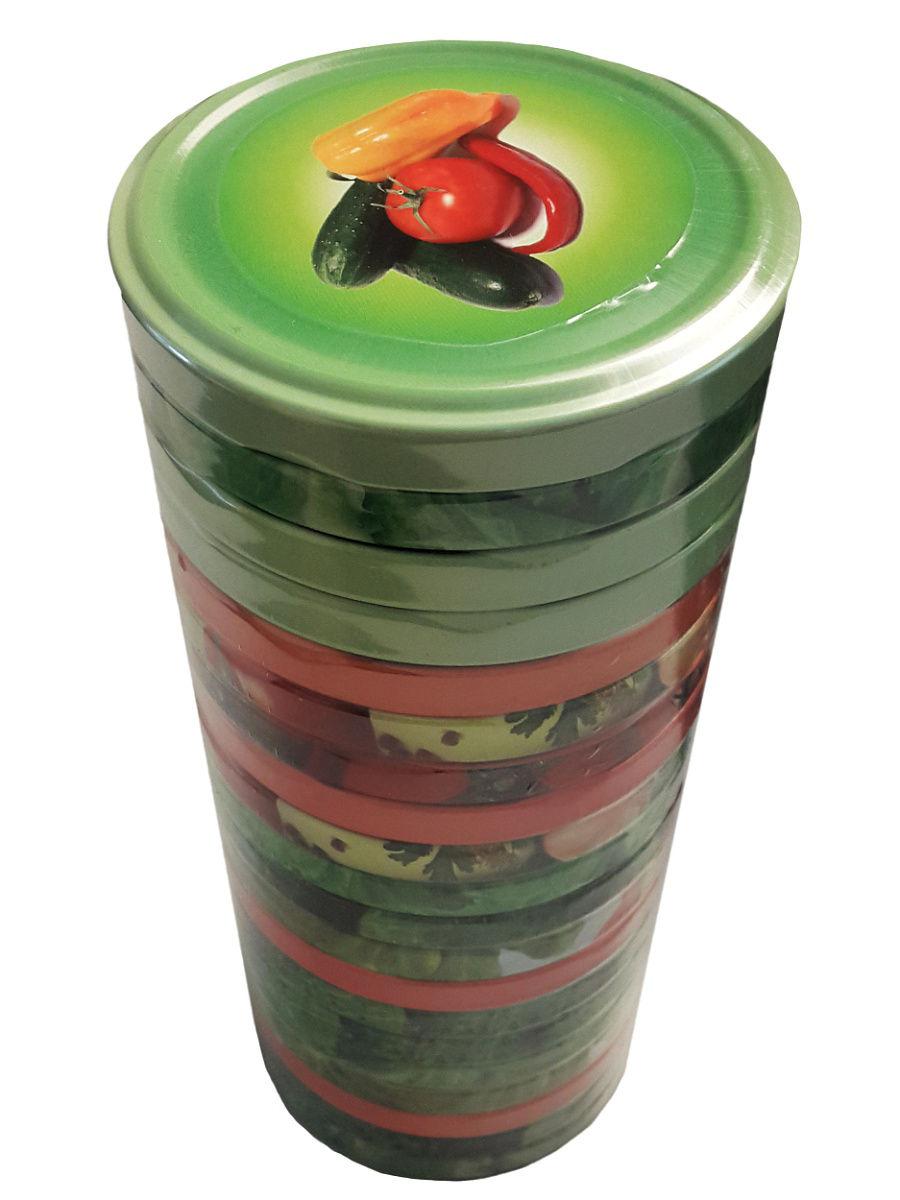 Крышка Твист 82 20 шт уп Огурцы,помидоры,фрукты,овощи