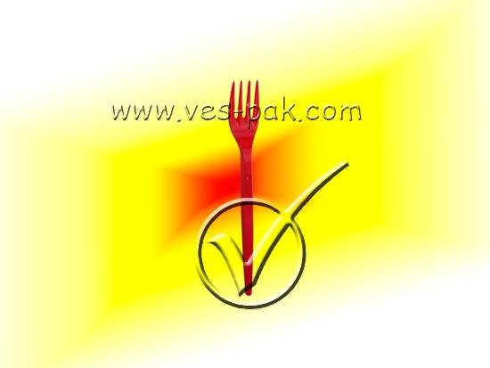 Вилка цветная (100шт) - магазин Вес-Пак весы пакеты опт и розница