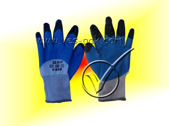 Перчатки Польша синие на черном-магазин ВЕС-ПАК опт и розница-перчатки Польша