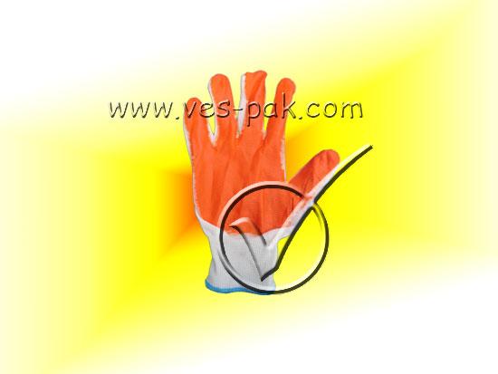 Перчатки оранжевые стрейч