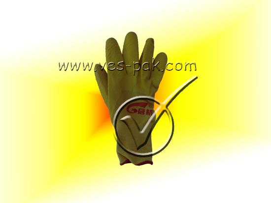 Перчатки пена желтые Польша