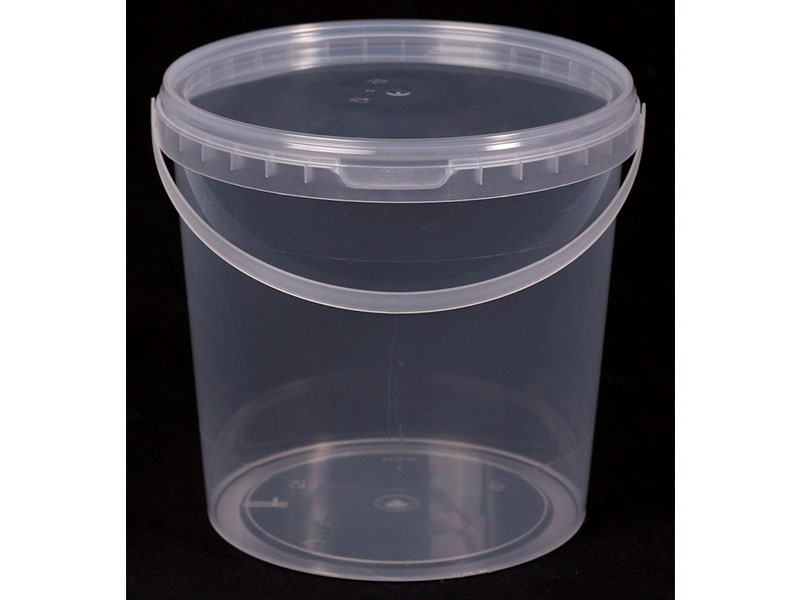 Ведро прозрачное (V-1,2 л), крышка прозрачная (D-130)
