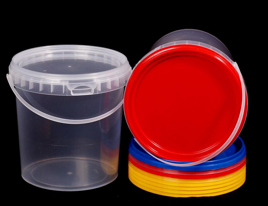 Ведро прозрачное (V-3,3 л), крышка прозрачная (D-180) - магазин Вес-Пак весы пакеты опт и розница