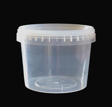 Ведро прозрачное (V-500 мл), крышка прозрачная (D-109)